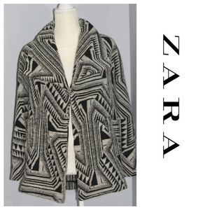 Zara Jackets & Coats - Zara printed lapel wool coat